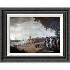 Global Gallery 'Washington at Yorktown After Surrender, 1781' by James Peale Framed Painting Print Size: