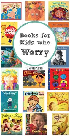 Great Books for Kids Who Worry is part of Anxiety books - These great books for kids who worry can be used as resources for a child who struggles with stress and anxiety due to a variety of reasons Great Books, My Books, Books For Kids, Stress, Anxiety In Children, Young Children, Social Emotional Learning, Social Anxiety, Panic Attacks