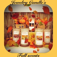 Jewelry Candles have their fall scent line!  Go check them out at www.jewelrycandles.com ! #JewelryCandles #candles