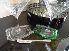 Clear Mason Jar Melted Slumped Flattened Flat Ball Mason Jar // spoon rest // cheese plate // soap dish // glass coasters on Etsy, $16.99