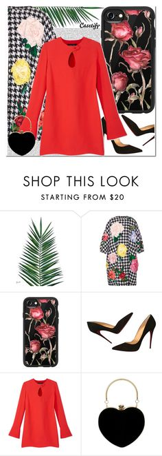 """""""Roses, Bel Air, take me there   CASETIFTY"""" by yagmur ❤ liked on Polyvore featuring Nika, Dolce&Gabbana, Casetify, Christian Louboutin and Derek Lam"""
