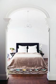 Bedroom textiles and rugs by Cultiver via The Design Files