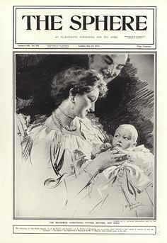 The new Duchess of Brunswick 1914 (Print) art by The Sphere (Matania) at The Illustration Art Gallery