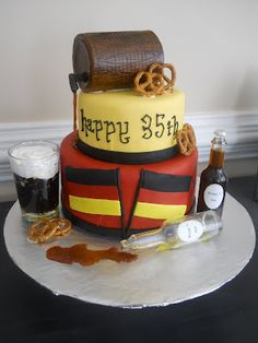 The Happy Caker: German/Beer Themed Cake