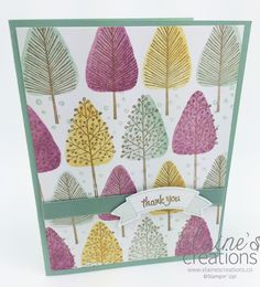 Make a fun forest of trees card with Stampin' Up! Totally trees Elaine's Creations