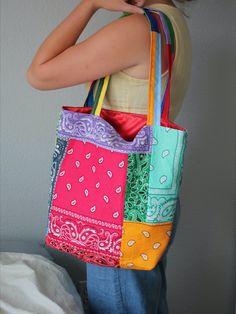 Diy Tote Bag, Tote Bags Handmade, Diy Clothing, Sewing Clothes, Cute Purses, Purses And Bags, Diy Fashion, Fashion Bags, Hippie Bags