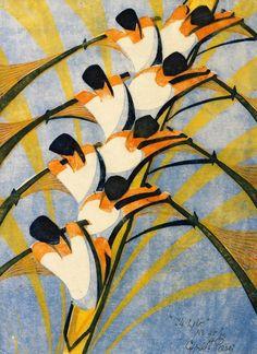 The Eight : Cyril Power : Circa 1930 rowing scullers Fine Art Print Linocut Prints, Poster Prints, Woodcut Art, Rhythm Art, Art Gallery, Art Brut, Art Moderne, London Art, Art Graphique