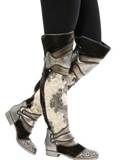 Dolce&Gabbana boots 20MM BROCADE LEATHER