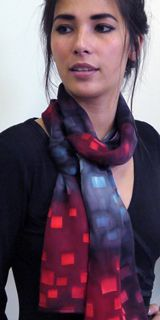Alarte Silks catalog of handpainted chichi silk scarves by Izabela Sauer