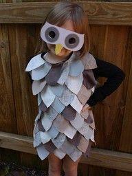Mi piace questo gufo costume di carnevale DYI :)