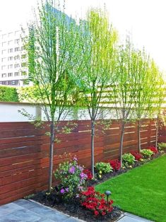 78 Ideas Of Modern Garden Fence Designs For Summer Ideas - Home/Decor/Diy/Design Large Backyard Landscaping, Backyard Trees, Backyard Shade, Backyard Fences, Garden Fencing, Landscaping Ideas, Backyard Designs, Landscaping Plants, Diy Design