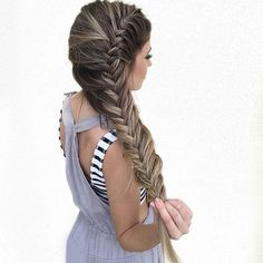 Obsessed with thick, long braids <3 by @habitsalon - learn this technique from our video tutorial at www.bit.ly/frenchfishtail