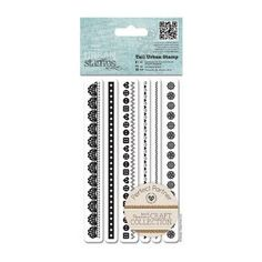 Tall Urban Stamp (6pcs) - Craft Collection - Pastels