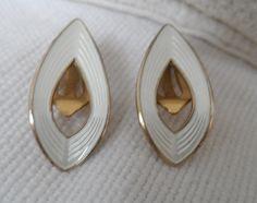 Norway Sterling silver & enamel modernist mid century clip on earrings Reserved for Gita Enamel Jewelry, Jewellery, Silver Enamel, Clip On Earrings, Norway, Scandinavian, Cufflinks, Brooch, Beads