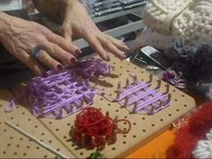 CraftSanity on TV: Making loom out of book and nails - YouTube