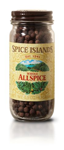 allspice has a sweet taste that's reminiscent of a number of different spices, including cloves, cinnamon and nutmeg. Because of its sweetness, it's commonly used in baked goods like spice cakes, dessert breads and cookies. It's also the primary flavor in Jamaican jerk seasoning.   Many chefs prefer whole allspice because of the more intense flavor and aroma you get by crushing or grinding it just prior to use.