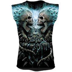 d8687ab7430 FLAMING SPINE - Allover Sleeveless T-Shirt Black