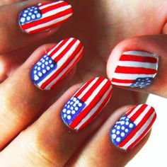 American flag nails...very well done and the stripes are nicely separated!