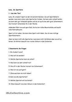 berufe der bauernhof 08 lesetext deutsch pinterest deutsch lesen deutsch lernen und. Black Bedroom Furniture Sets. Home Design Ideas