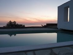 A view of the pool at Tinosvilla Greece, Relax, Mansions, House Styles, Places, Outdoor Decor, Islands, Home Decor, Greece Country