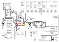 12v 240v camper wiring diagram vw camper pinterest. Black Bedroom Furniture Sets. Home Design Ideas