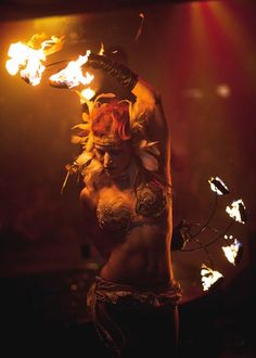 Sexy fire dancer...