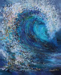 Unique painting on canvas Wave Acrylic painting on canvas format cm This painting is made in an unusual technique. The combination of Fauteuil Toile Design Toilet Home Depot Pour Painting, Acrylic Painting Canvas, Wave Art, Unique Paintings, Beach Art, Mosaic Art, Painting Techniques, Painting Inspiration, Modern Art