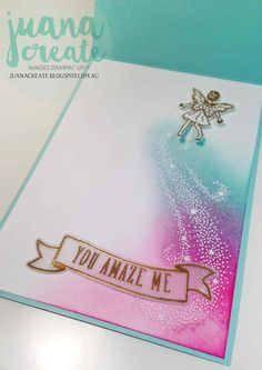 Juan Ambida Independent Stampin' Up!® Demonstrator Australia: Fairy Celebration - Congrats to You!