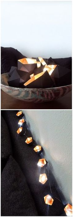 diy geoball geometric fairy lights   #decor #craft