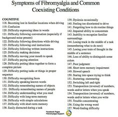 susannacaring:  Symptoms of #Fibromyalgia - Cognitive #fibro #FM