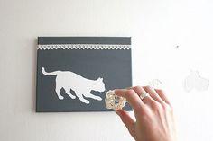 koťátko s klubíčkem / kitty with a ball Polaroid Film, Kitty, Paintings, Little Kitty, Paint, Kitty Cats, Painting Art, Kitten, Painting