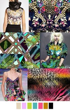 Pattern Curator delivers color, print and pattern trends and inspiration. Trends 2015 2016, 2016 Fashion Trends, Fashion Colours, Colorful Fashion, Fashion Design Inspiration, Fashion Pattern, Style Ethnique, Moda Fashion, Wild Fashion