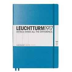 Leuchtturm1917 344809 Notizbuch (A5, Dotted, 80g/qm) 249 Seiten beere