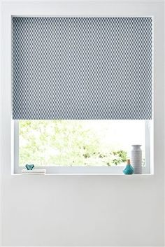 Buy Teal Abstract Geo Blackout Roller Blind from the Next UK online shop