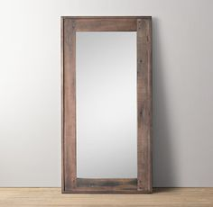 """salvaged boatwood leaner mirror $650 dimensions 36"""" x 70"""""""