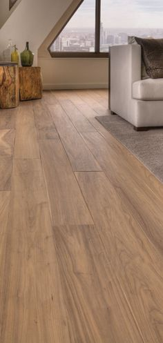 I love this floor - Wide Plank Walnut Floors, beautiful!