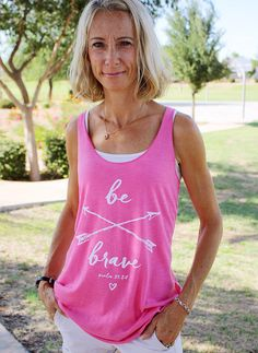 Christian Shirt for Women // Be Brave // by SetFreeApparel on Etsy