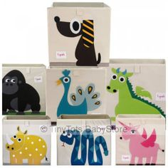 Perfect fit for storage cube cupboards and with the fun characters this will add great storage solution to your babies room.http://tinytotsbabystore.com/shop/3-sprouts-storage-box/