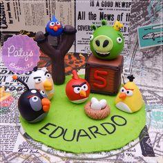 Topo de Bolo Personalizado Angry Birds - Paty's Biscuit