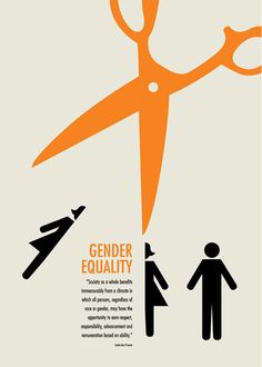 "Gender EqualityInternational Poster Design, Paris, France, October 2012 ""Gender Equality"" poster designed for an international organization, Poster for Tomorrow' competition, to promote awareness on gender equality. The poster won in the top 300 short…"