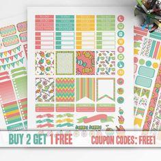 Candy Planner Stickers Printable, Erin Condren Sticker, Monthly/Weekly Stickers Kit, Printable Sampler, Erin Condren kit, Instant download,