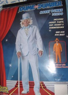 DUMB & DUMBER HARRY DUNNE BLUE TUXEDO ONE SIZE 46 HALLOWEEN COSTUME NEW #NEWCOSTUME #CompleteOutfit
