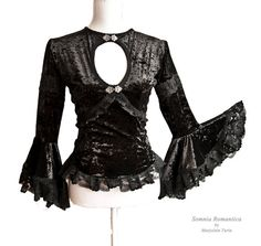 Top Rosenheim, size M, black victorian, goth, historical, Somnia Romantica by Marjolein Turin