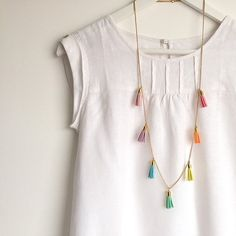RAINBOW Tassel Necklace - Colourful Long Necklace with 7 Tassels Brand new 'PASTEL RAINBOW' just listed!Pearl necklace Pearl necklace often refers to: Pearl necklace may also refer to: Tassel Jewelry, Beaded Jewelry, Jewelry Necklaces, Necklace Ideas, Jewellery Box, Diy Necklace Boho, Crystal Jewelry, Branded Jewellery, Silver Jewelry