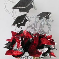 how to make graduation centerpieces | Designs by Ginny offers custom graduation…