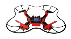 Force Flyers 6 Axis Gyro Remote Control DYI Building Block Drone with Mega Pixal Camera Red