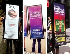 12-Human Billboard Advertising