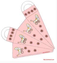 free printable baby girl gift bag