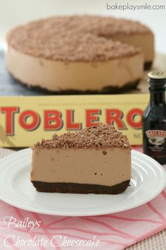 The BEST Baileys Chocolate Cheesecake with Toblerone chocolate... completely no-bake (so there's no need to turn the oven on!). Easy and…