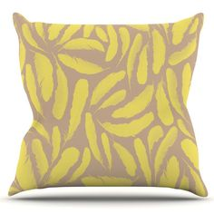 Feather by Skye Zambrana Outdoor Throw Pillow